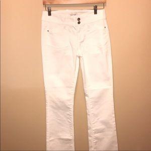 White House Black Market White Boot Leg Jeans 2 L